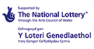 Supported by The National Lottery through the Arts Council of Wales