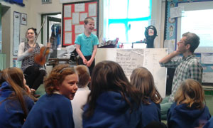 Song-writing workshop at Franksbridge Primary School