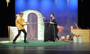 Prospero (Jethro Skinner) confronts his brother Antonio (Sam Glazer)